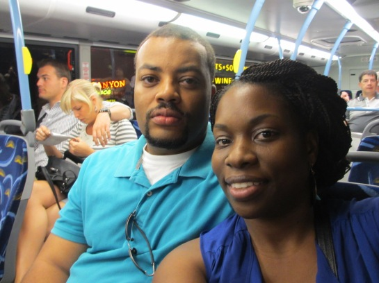 Surprisingly this was my hubby's first ride on a city bus!