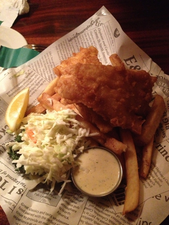 Loved the British take on fish and chips at a cute little pub called Elephant & Castle in Downtown DC!