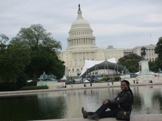 Chilling in front of the US Capitol. We were there during Police Week so there were a lot of events in their honor.
