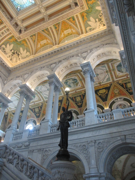 The beautiful arches in the Library of Congress gave the Capitol building a run for it's money is the category of beautiful architecture. I loved it!
