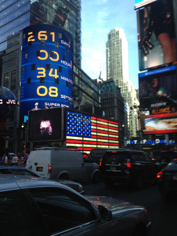 First glimpse of Times Square